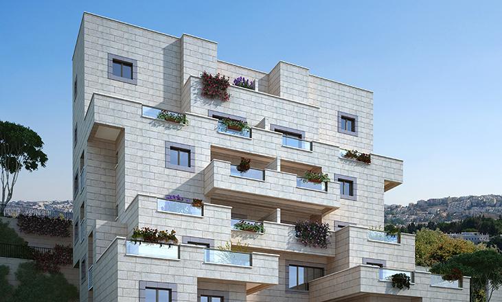 בנין מספר 2 בפרויקט מגורים של דונה. דונה - דירות למכירה בירושלים