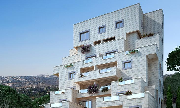 חזית בניין- דירות למכירה באפק ראש העין ודירות חדשות בירושלים