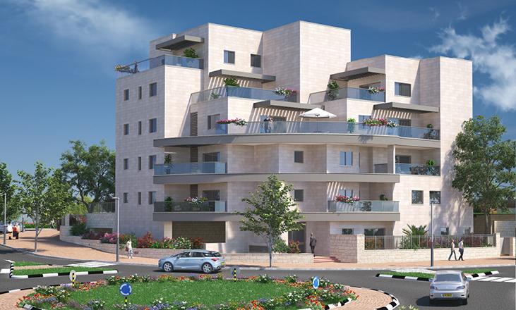 ככר תנועה אל מול בנין של דונה - דונה, דירות למכירה באשקלון
