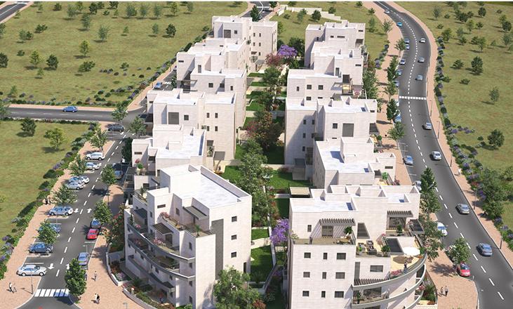 תמונת כביש מקיף שני עברי פרויקט מגורים של דונה. דירות למכירה