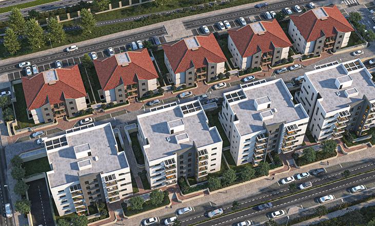 דירות למכירה בשוהם, מבט עילי על פרויקט הנדל