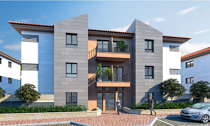 חזית של בית, דירות למכירה בשוהם של דונה נדל
