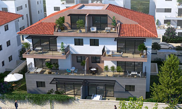 דירות בשוהם, תמונת חזית בית מרהיב ביופיו